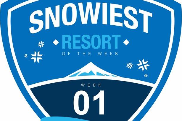 Sneeuwrijkste gebied week 1