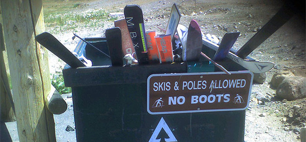 Recyclage skis