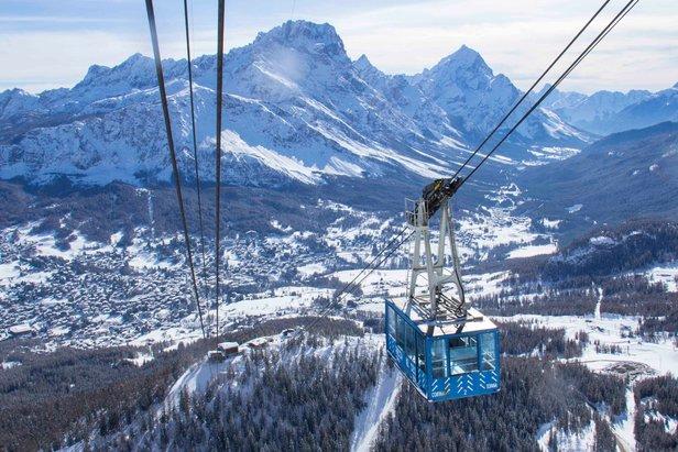 Gondola w Cortina d'Ampezzo