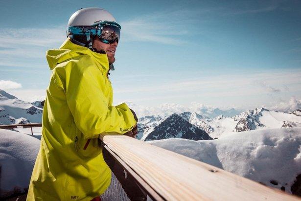 Słońce na lodowcu Stubai  - © Andre Schoenherr- TVB Stubai Tirol
