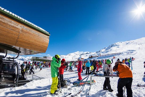 Conditions idéale (soleil et neige fraîche) pour une journée de ski à Baqueira Beret...