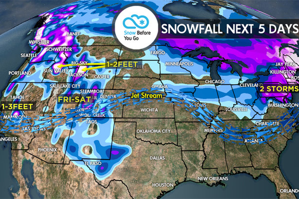 Snow Before You Go: One final storm system over the next five days will bless the West with more double digit powder!
