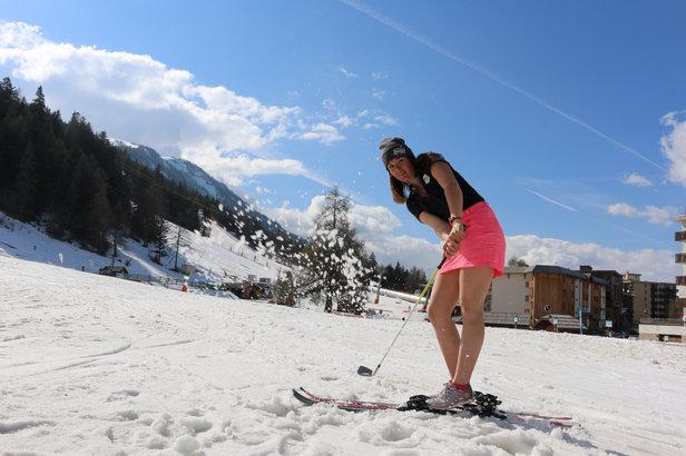 Du ski et du golf... un beau mix pour terminer la saison d'hiver en beauté