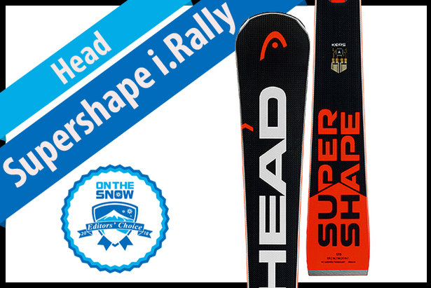 Head Supershape i.Rally, men's 17/18 Frontside Editors' Choice ski.