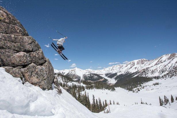 Jump for joy! A-Basin is extending the season. - ©Arapahoe Basin Ski Area (Adrienne Saia Isaac, Communications Manager)