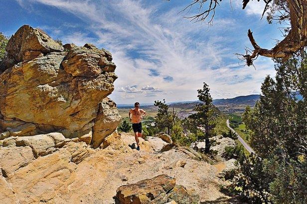 Meteorologist Chris Tomer on a Denver area trail run.  - © Meteorologist Chris Tomer