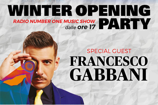 Pontedilegno-Tonale, Winter Opening Party con Francesco Gabbani, sabato 9 Dicembre 2017