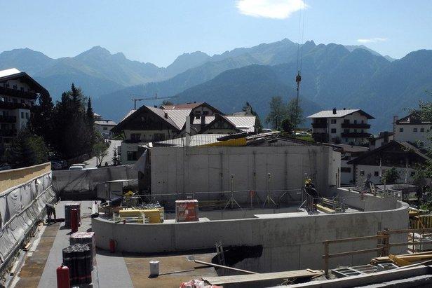 In Serfaus wird kräftig an der neuen Dorfbahn gebaut