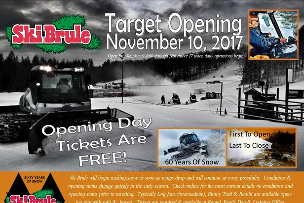 Ski Brule Is Open For Snowsports!- ©Ski Brule Is Open!