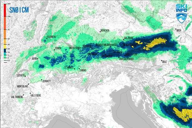 Snøvarsel for Alpene- ©[c] ZAMG | Skiinfo