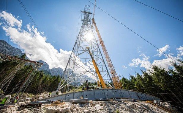 Updates von den Baustellen: So gehen die Bauarbeiten an den neuen Liften und Gondeln in den Alpen voran- ©www.zugspitze.de