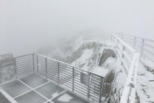 Sneh na Lomnickom štíte v piatok 20.9.2019