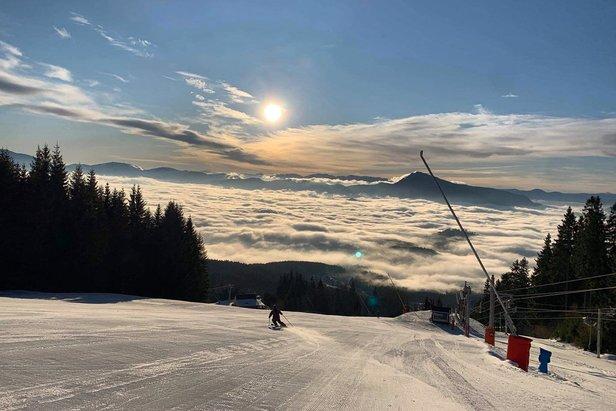 Skvělé lyžařské podmínky na Kubínské holi