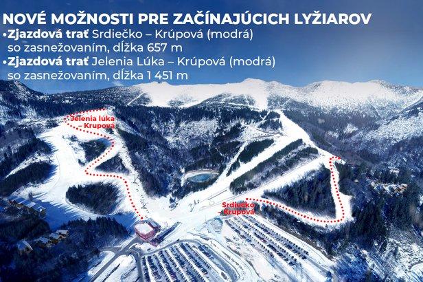 Nové možnosti pro začínající lyžaře - jeden z cílů plánovaných investic TMR