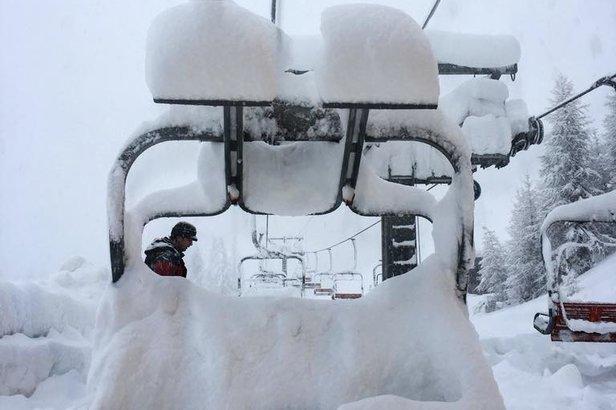 Neve fresca a Pila (9.1.18)  - © Pila Valle d'Aosta Facebook