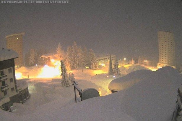 I video dell'eccezionale nevicata a Sestriere ©Sestriere webcam