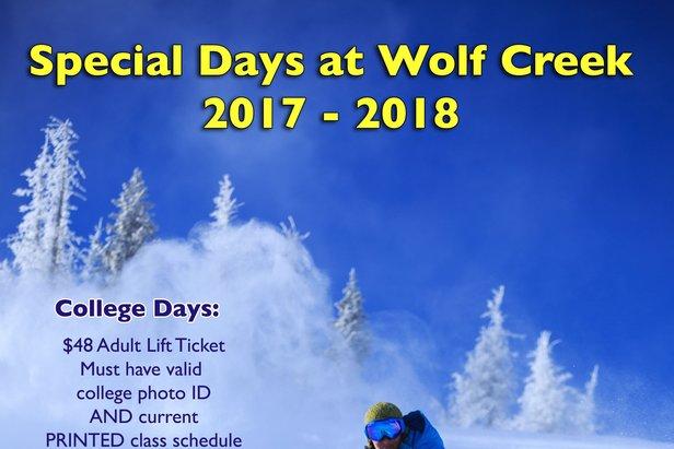 College Day 3/31/18 ©Wolf Creek Ski Area
