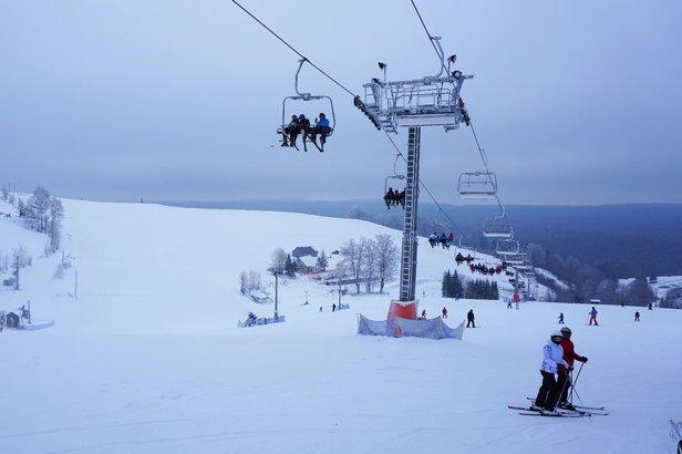Raport z Zieleńca: sypie śnieg, warunki bardzo dobre- ©Zieleniec Ski Arena