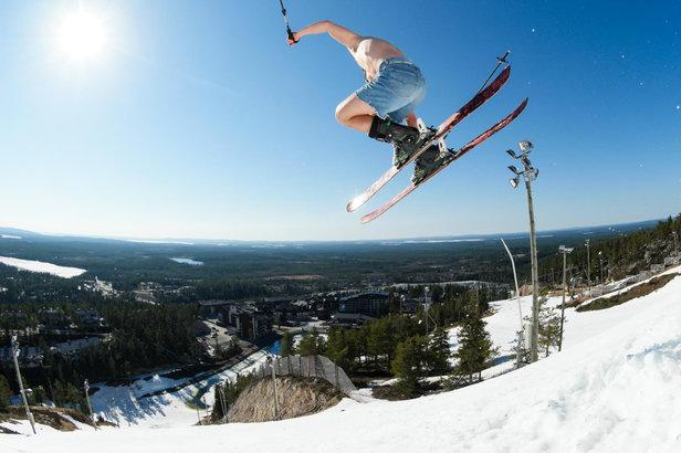 Ski en mai à Ruka (en Finlande)