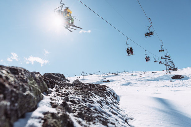 ski au printemps à Riksgränsen (en Suède)