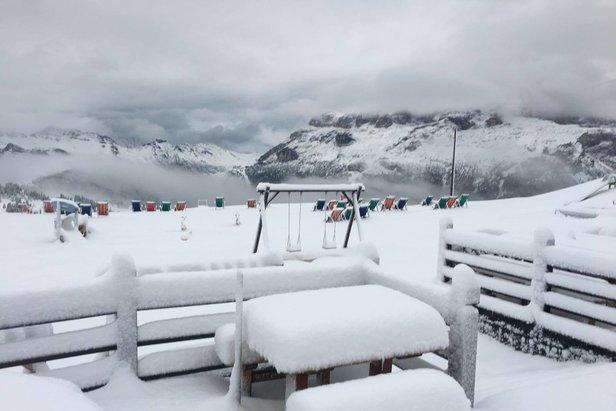 Dove ha nevicato? Tutta le neve di fine Agosto postata sui social ©Facebook Alta Badia