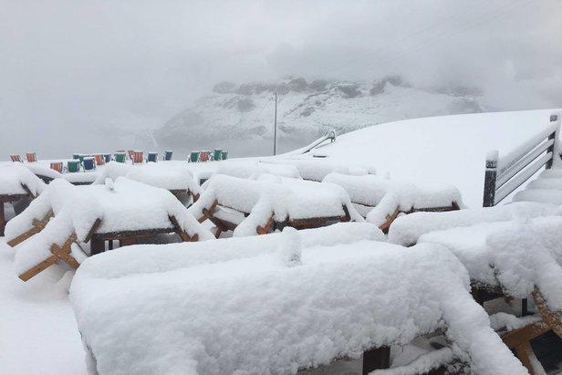 Der erste Schnee der Saison: Skigebiete in den Alpen melden bis zu 50cm Neuschnee ©Facebook Alta Badia