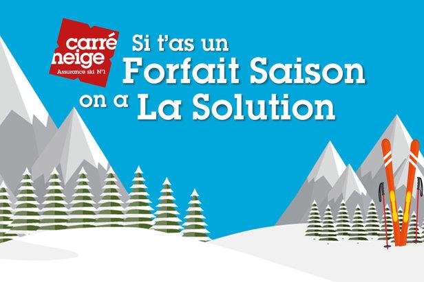 Le Carré Neige Saison : Une assurance adossée aux forfaits de ski saison, idéal pour les pratiquants assidus (saisonniers, propriétaires de résidence secondaire, locaux...)