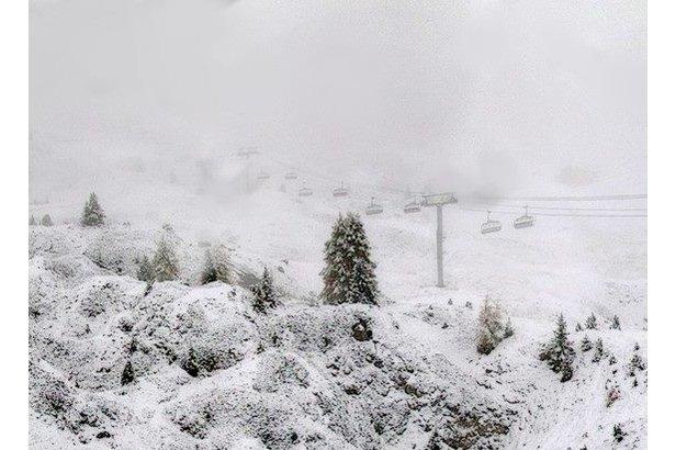 Silne opady śniegu: zobaczcie zdjęcia!- ©La Plagne/Facebook