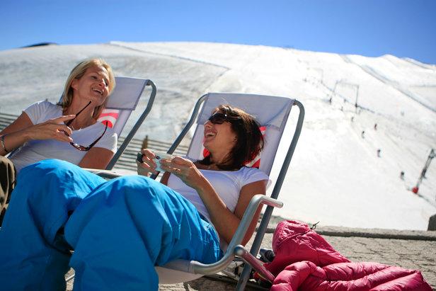 Relax sur le glacier des 2 Alpes à 3200 mètres d'altitude...