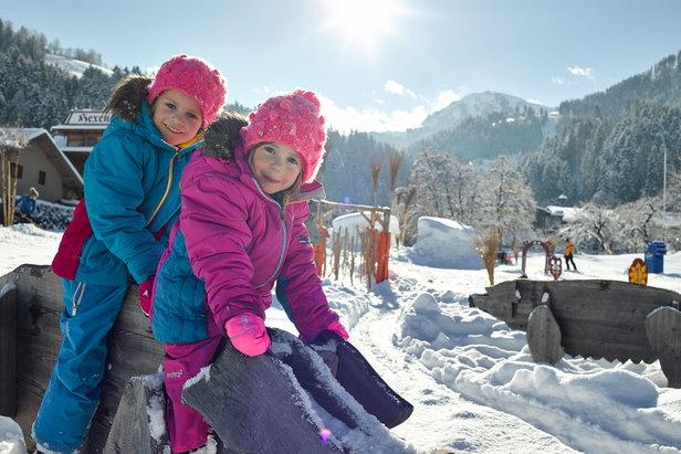 Kinder haben Spaß in der SkiWelt Wilder Kaiser-Brixental