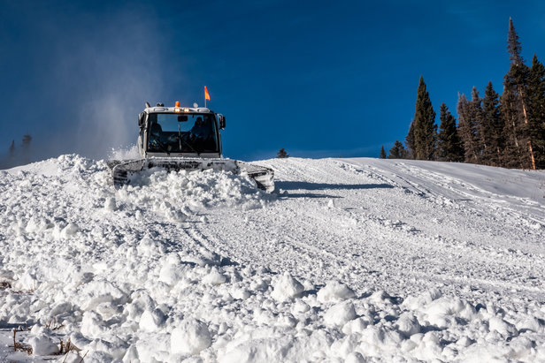 Purgatory crews make snow and groom trails in preparation of opening day, Nov. 17