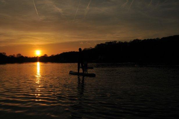 Met de Julbo Paddle op het meer van GenvalDimitri Papageorges/Vanessa Jansen