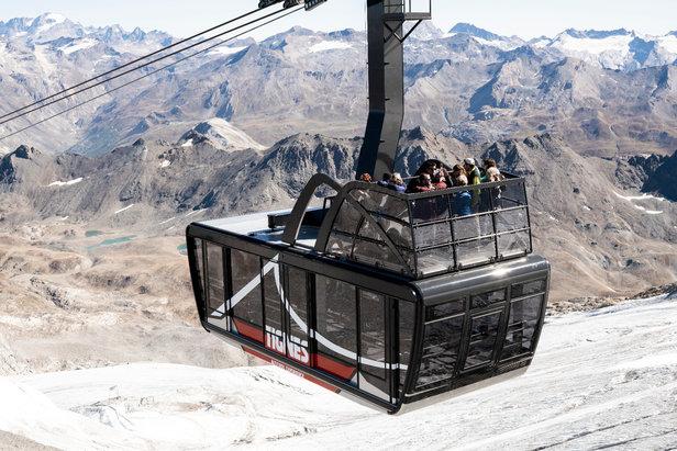 Tignes présente son nouveau téléphérique-terrasse- ©Tignes STGM / S. Cande