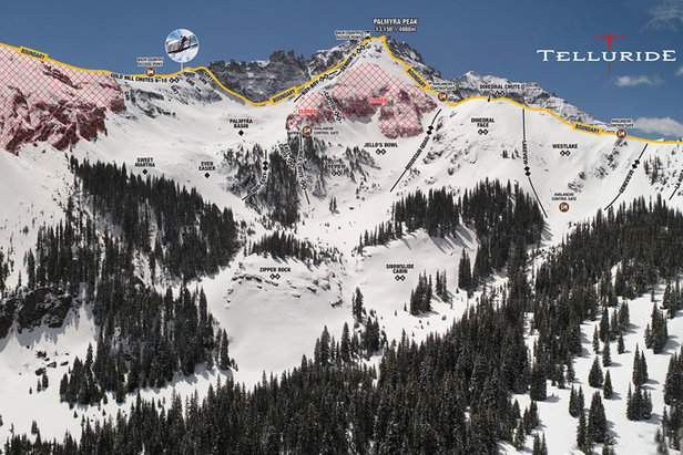 Telluride offers exceptional hike-to terrain that rivals a backcountry experience.  - © Telluride Ski Resort