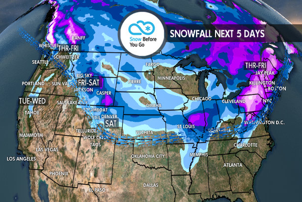 Serious Snow in Spots: 11.15 Snow B4U Go- ©Meteorologist Chris Tomer