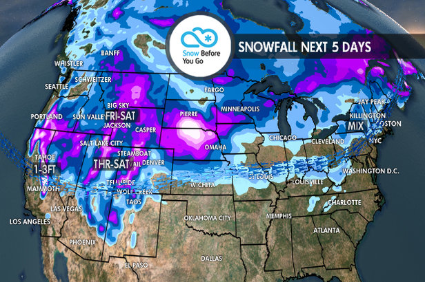 Multiple Storms & 1-3 Feet for Parts of West: 11.29 Snow B4U Go- ©Meteorologist Chris Tomer
