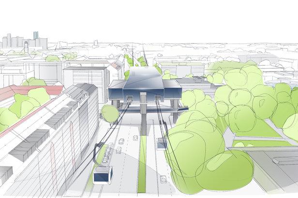 Urbane Seilbahn in München? Erste Ideen werden diskutiert ©Schörghuber Unternehmensgruppe