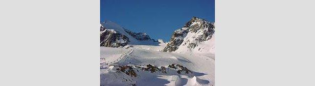 Fresh Snow On Molltal Glacier