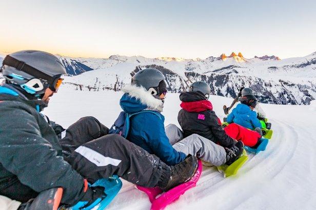 activités à partager en famille en station de ski