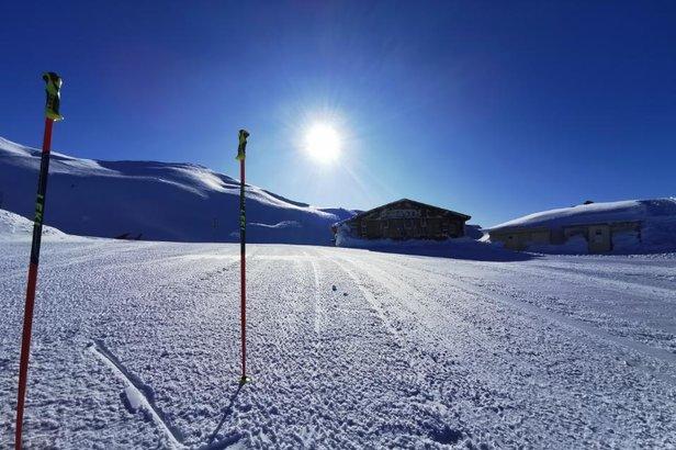 Un petit avant-goût de ce qui vous attend dès ce week-end aux Orres avec 1m10 de neige au sommet...