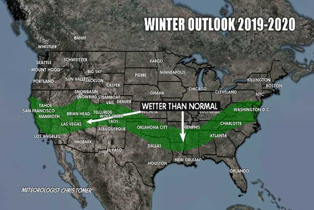 Winter 19/20 Long-Range Weather Forecast ©Chris Tomer