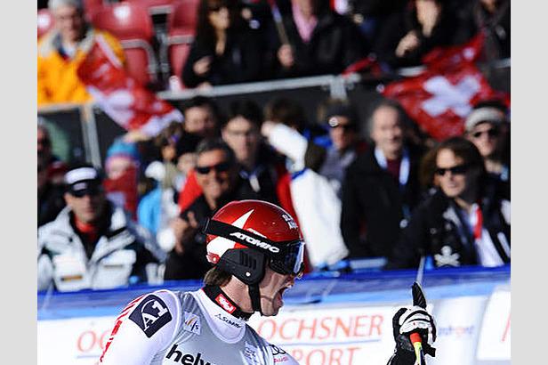 Abfahrtsfinale in Lenzerheide: Theaux gewinnt das Rennen, Cuche hängt Walchhofer ab- ©Alain GROSCLAUDE/AGENCE ZOOM