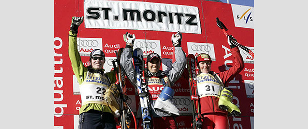 Zwei Siege und ein Fast-Crash in St. Moritz- ©FIS/Zoom Photo Service