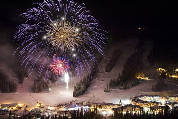 Best Ski Resorts for New Year's Events, Fireworks Adam Stein, Sun Peaks