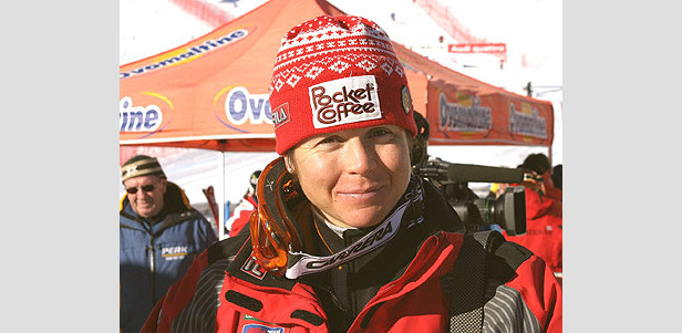 Hilde Gerg Zweite beim ersten Training - Isabelle Huber schwer verletzt ©G. Löffelholz / XnX GmbH
