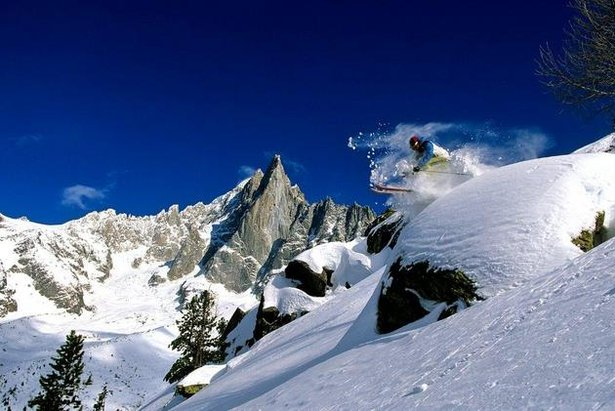 Freeriding in Chamonix
