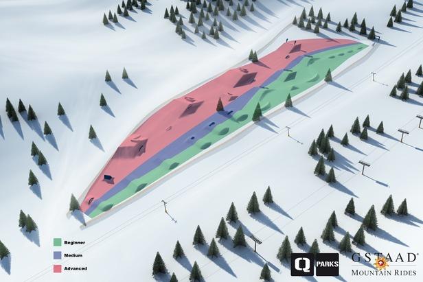 Nouveau Snow Park à Gstaad