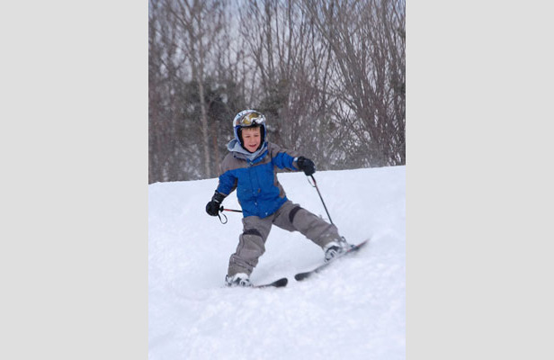Learning to ski at Snow Ridge.