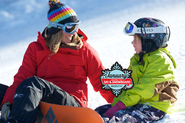 "January is ""Learn to Ski & Snowboard Month"" nationwide."