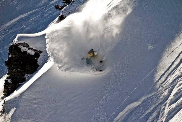 Freeride-Profi Julien Falco im Skigebiet Hochkönig